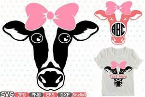 Cow With Bandana Silhouette SVG Digital Design Bundles