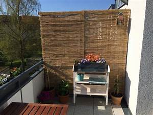 idee windschutz balkon With balkon ideen sichtschutz