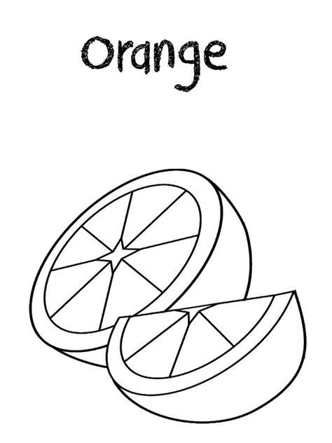 orange coloring pages   print orange coloring pages