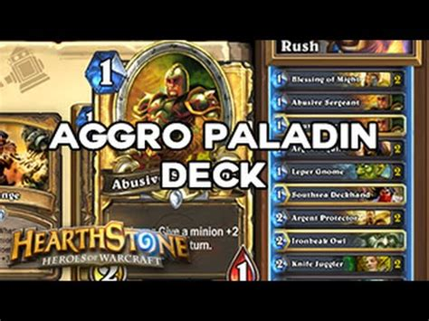 [hearthstone] Cheap Legendary Aggro Paladin Deck