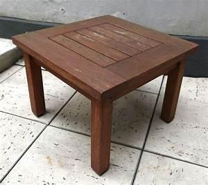 Petite Table Basse De Jardin : lot 1097 2 unites petite table basse carree de jardin en teck de marque medicis dimensions 365 x 50 ~ Teatrodelosmanantiales.com Idées de Décoration
