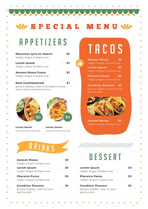 menu cuisine food menu by infinite78910 graphicriver