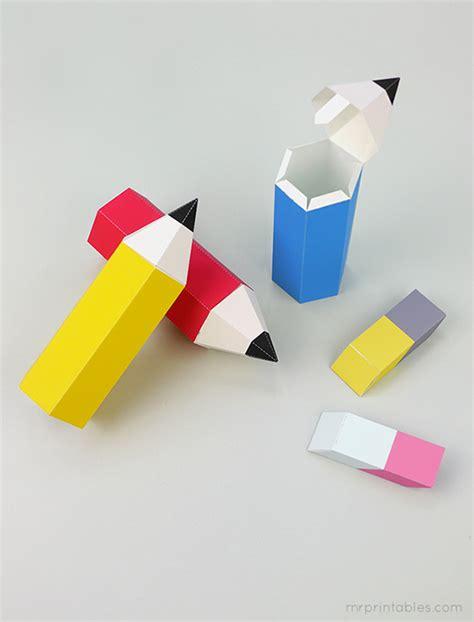 school pencil favor boxes  printables