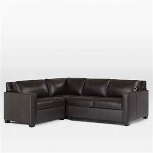 henryr 3 piece sectional leather west elm With henry leather sectional sofa