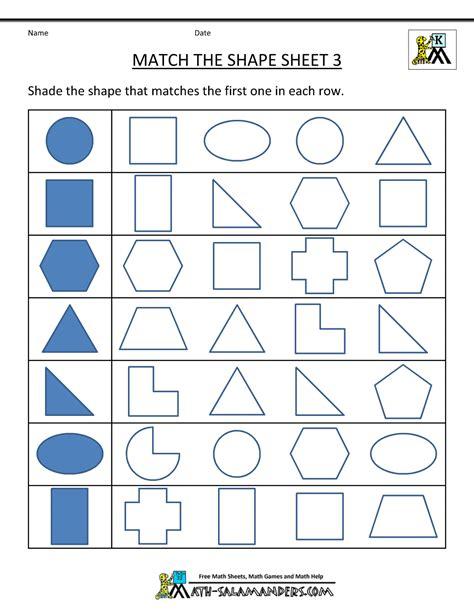 math worksheets with shapes free shape worksheets kindergarten