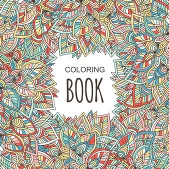 adult coloring book case coloured retro background vector free download