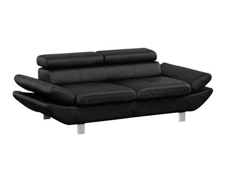 pied de canapé conforama canapé fixe 3 places loft coloris noir en pu vente de