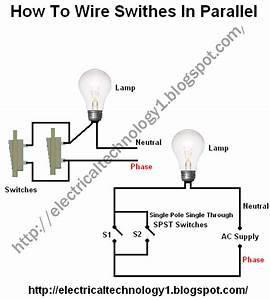 Electrical Technology  How To Wire Switches In Parallel