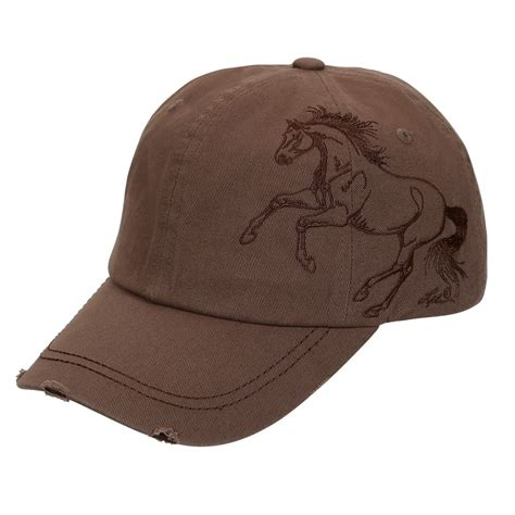 expresso brown cap  embroidered galloping horse bc
