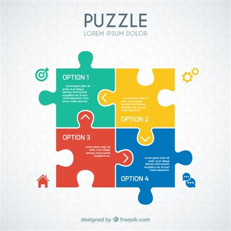 Which Pieces Of Information Would Be To Include In A Resume by Puzzle Infographic Vector Free