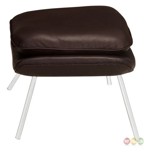 w casual genuine leather lounge chair with matching