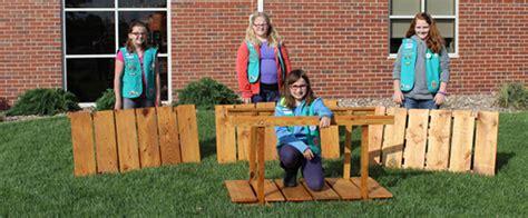 girl scouts  ceremonial bridges  bronze award project