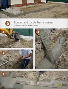 Fundament Für Terrasse : fundament f r die gartenmauer streifenfundament selber machen garten pinterest ~ Yasmunasinghe.com Haus und Dekorationen