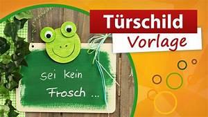 Basteln Für Den Sommer : t rschild vorlage frosch basteln f r den sommer trendmarkt24 diy bastelideen youtube ~ Buech-reservation.com Haus und Dekorationen