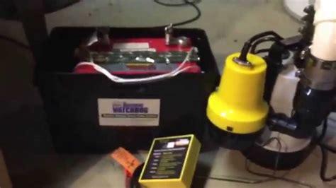 basement watchdog combo sump pump  battery