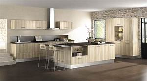 modele de cuisine en bois moderne cuisine en image With cuisine moderne en bois