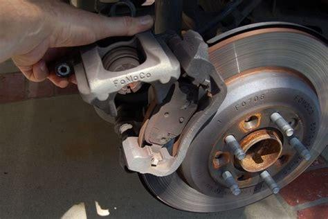 diy rear brake pad  rotor change  ford flex long