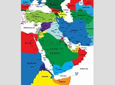 Middle East map Vector Colourbox