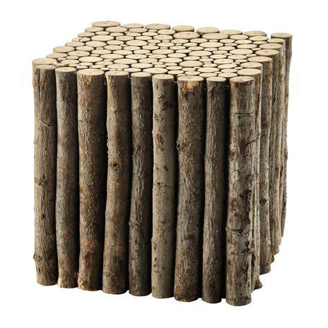 bout de canape bois bout de canapé en bois l 41 cm lognan maisons du monde