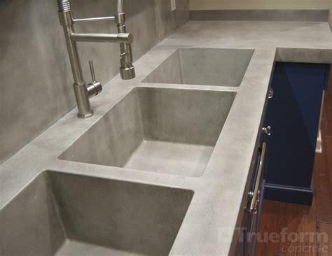 Tripple Concrete Sink  Trueform Decor