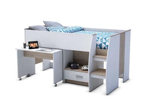 lit combiné bureau conforama lit superposé et mezzanine pas cher promo et soldes la deco