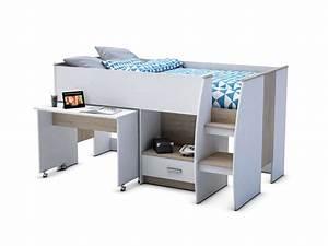 Lit En Hauteur Conforama : lit sur lev 90x190 cm ~ Farleysfitness.com Idées de Décoration
