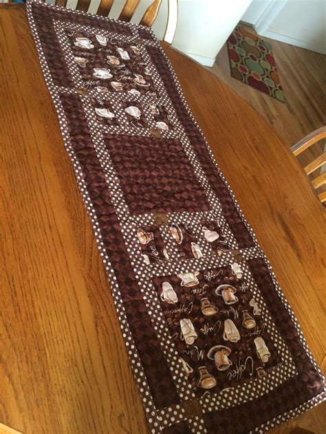 Coffee cup table runner   Table runners   Pinterest