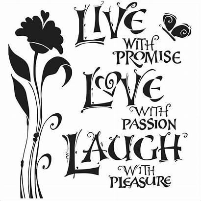 Laugh Stencil Stencils 15cm Craft
