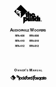 Rfa-810 Manuals