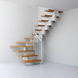 Escalier En U : escalier 1 4 tournant bas sapin avec rampe mont droit ~ Farleysfitness.com Idées de Décoration