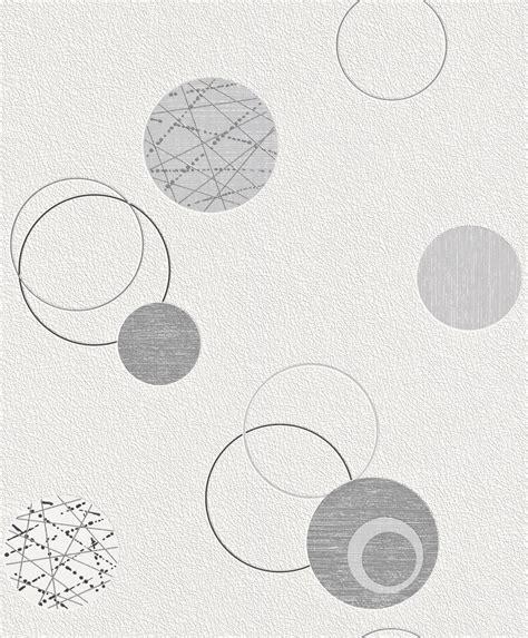 Tapete Vlies Kreise Silber Grau Rasch Planet 475906