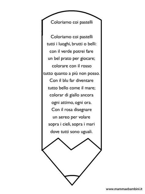 frasi sui colori per bambini poesia sui colori con disegno matita da colorare mamma e