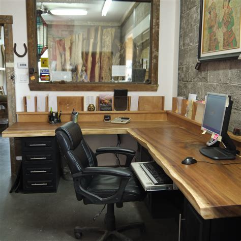 bureau bois exotique bureau bois organique exotique suar live edge