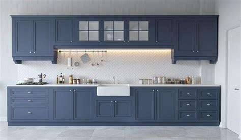 kitchen cabinets with blue walls einrichtung k 252 chen in wei 223 und grau trendomat 9510