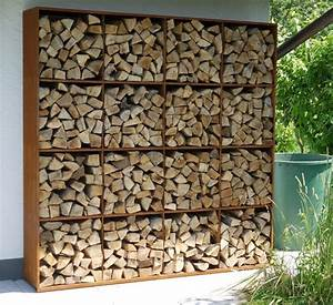 CorTen Steel Rack To Store Fire Wood Kamin Pinterest