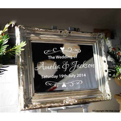 personalised wedding  mirror sticker temple webster
