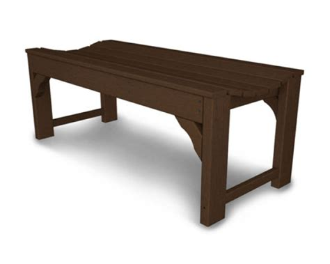 recycled plastic backless bench outdoor  site