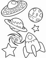 Space Coloring Rocket Earth Star Ufo Blackhole Print Pages Rockets Ship sketch template