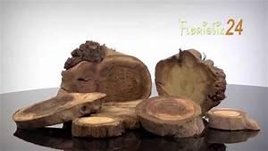 Sichtzäune Aus Holz : floristik24 deko holzscheiben natur youtube ~ Watch28wear.com Haus und Dekorationen