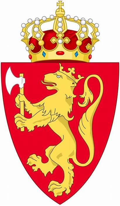Norway Arms Coat Svg Royal Lambang Norwegian