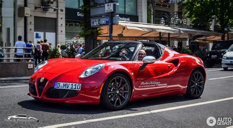 2012 Alfa Romeo 4c Cherry Red