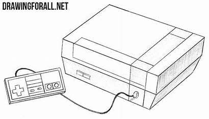 Draw Nes Nintendo Drawing Entertainment System Drawingforall