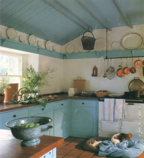 country kitchen tv cottage light blue and white kitchen interiors by color 2917