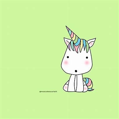 Kawaii Unicornio Unicorn Cupcake Licorne Unicornios Mignons