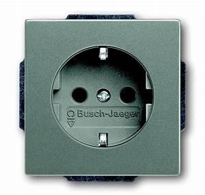 Busch Jaeger Steckdosen : busch jaeger 20 euc 803 schuko steckdosen einsatz mit steckanschluss steckdosen graumetallic ~ Orissabook.com Haus und Dekorationen