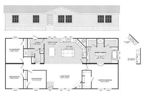 2 person soaker tub 4 bedroom floor plan b 6012 hawks homes manufactured