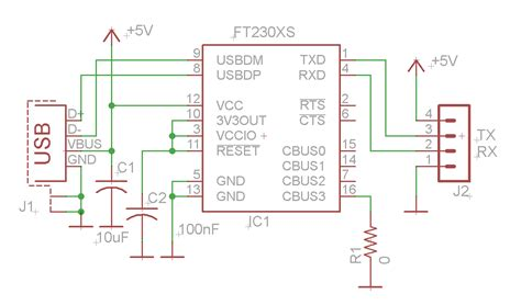 usb to serial converter using ftdi ft230x electronics lab