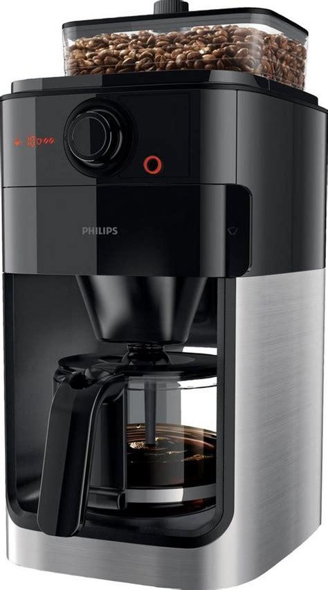 kaffeemaschine philips philips kaffeemaschine mit mahlwerk hd7765 00 grind brew 1 2l kaffeekanne papierfilter 1x4
