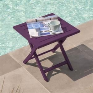 Table Basse Balcon : table basse pliante 40x40 pratique pour le balcon ou la terrasse ~ Teatrodelosmanantiales.com Idées de Décoration