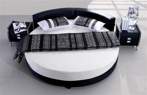 Black Leather Headboard Double by 25 Amazing Round Beds For Your Bedroom